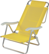 Cadeira De Praia Sol De Verão Amarelo 9937 002106