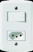 Conjunto Interruptores Simples + Tomada 2p+t 10a/250v 9971 57145/064