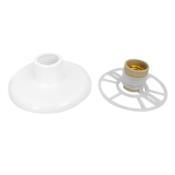 Suporte Plafon Rosqueável Simples Branco 100w 12629 AC 000001