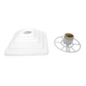 Suporte Plafon Rosqueável Simples Pirâmide Branco 100w 12630 AC 000003