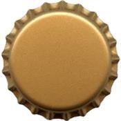 Tampinha Aço Para Garrafa Dourada Corona 26mm 12671 COR001470