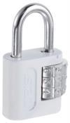 Cadeado Segredo Encartelado Branco 25mm 12932 90503