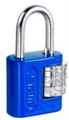 Cadeado Segredo Encartelado Azul 25mm 12933 90506