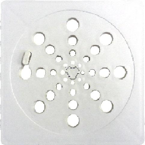 Grelha Ralo Quadrada Inox 150mm Com Fecho 13315 20.0004