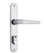 Fechadura Externa Porta Ferro Espelho Em Inox Tubo 50mm 501-502/03 1007 35016