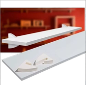 Prateleira Em Mdp Concept Branca Suporte Plástico 1,5x25x0,60 13645 8850.060