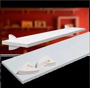 Prateleira Em Mdp Concept Branca Suporte Plástico 1,5x25x0,80 13646 8850.070