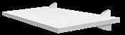 Prateleira Em Mdp Concept Branca Suporte Plástico 1,5x25x1,00 13679 8850.080