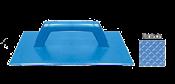 Desempenadeira Plástica Premium Azul Estriada 17x30 13581 11802032