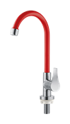 Torneira Cozinha Mesa 1/4 Volta Arejador Fixo  Vermelha Twist 13825 2951