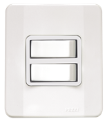 Interruptor 2 Teclas Paralelo 10a 250v C/placa Caixa Simples Tendenza Branca 13936 62520