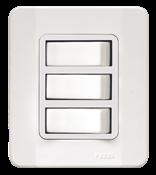 Interruptor 3 Teclas Simples 10a 250v Caixa Simples Branca 13946 63500