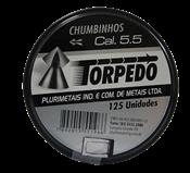 Chumbo Espingarda Pressão Torpedo 5,5mm Cx C/125 un 13847 265