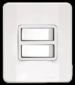 Interruptor 2 Teclas Simples 10a 250v C/placa E Caixa Simples Branca 13929 62500