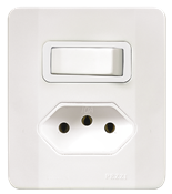 Interruptor Simples +tom.2p 20a 250v C/placa E Caixa Simples Branca 13930 64507