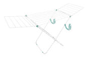 Varal De Chão Napoles C/ Abas 1,48x49x85 14150 101052