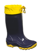 Bota Cano Longo Infantil C/ Amarra Azul/amarelo N° 26/7 14099 NVE AZ/AM A 26/7