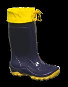 Bota Cano Longo Infantil C/ Amarra Azul/amarelo N° 28/9 14100 NVE AZ/AM A 28/9