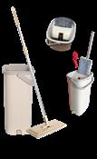 Esfregão Mop Plano Balde Plástico Cabo Metal C/ 2 Refis 14120 XH-046