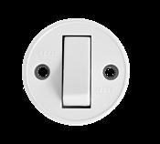 Interruptor Redondo Sobrepor Branco Simples  10a 250v 14348 191-1/1T.S