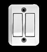 Interruptor Retangular Sobrepor Duplo Branco Tecla 10a 250v 14352 221-1/2Ts