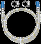"""Ligação Flexível Instalação Gás 1/2"""" Espiga 3/8"""" 2,0m 11416 182505-41"""