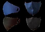 Kit Com 12 Máscaras Laváveis De Neoprene Preta E Azul 14486 9006.0.0