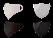 Kit Com 12 Máscaras Laváveis De Neoprene Preta E Branca 14490 9007.0.0