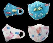 Kit Com 12 Máscaras Infantis Laváveis De Neoprene 2 Estampas P/ 3 A 12 Anos 14495 9008.0.0