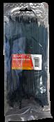 Cintas Nylon Reguláveis Preta 3,5x150mm Pt/100un 14527 A11006