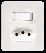 Interruptor Simples +tom.2p 10a 250v C/placa E Caixa Simples Branca 14557 64506