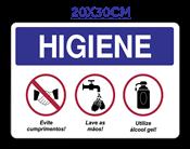 Placa Em Ps Sinal/adv - Higiene 20x30 14597 1645