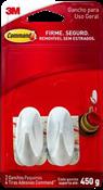 Gancho Com Adesivo Plástico Command 2 Peças Medio 0,450g 14604 H0002040873