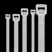 Cintas Nylon Reguláveis Branca 2,5x150mm Pt/100un 14668 A11003