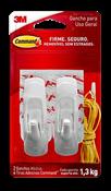 Gancho Com Adesivo Plástico Command 2 Peças Medio 1,3kg 14606 H0001818113