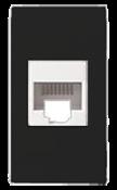 Tomada Rede Rj45 Com Conector Preta 11509 50044-2