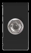 Módulo Coaxial Com Conector Preto 11510 50052-2